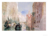 A Canal Near the Arsenale, Venice Giclée-tryk af William Turner