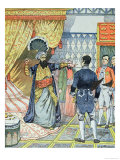 The Dey of Algiers, Hussein Ibn El Hussein Strikes the French Ambassador, M. Deval Giclee Print by V.a. Poirson