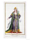 Hyu-Chen, Wife of Genghis Khan Giclee Print by Pierre Duflos