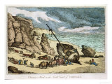 "Clearing a Wreck on the North Coast of Cornwall, from ""Sketches from Nature,"" Published 1822 Giclee Print by Thomas Rowlandson"