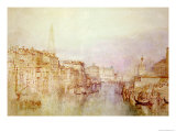 The Grand Canal Looking Towards the Dogana Reproduction procédé giclée par William Turner