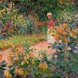 Garden at Giverny, 1895 Giclée-tryk af Claude Monet