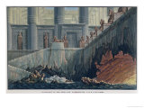 "Egyptian Set Design for Act II, Scene XXviii of the Opera ""The Magic Flute"" Giclee Print by Karl Friedrich Schinkel"