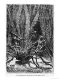 "The Spider Crab, Illustration from ""20,000 Leagues under the Sea"" Giclee Print by Alphonse Marie de Neuville"