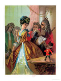 "The Old King and the Nutcracker Prince, Illustration from ""The Nutcracker"" by E.T.A. Hoffman 1883 Giclee Print by Carl Offterdinger"