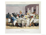 The Hundred-Seater Restaurant: 5 O'Clock Giclee Print by Grandville