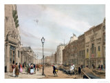 "Piccadilly from the Corner of Old Bond Street, from ""London as it Is"" Giclee Print by Thomas Shotter Boys"