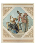 "Brunhilde and Hagen, Illustration for ""The Niebelungen"" by Richard Wagner, 1846 Giclee Print by Julius Schnorr von Carolsfeld"