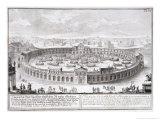 """Naumachia, Plate 6 from """"Entwurf Einer Historischen Architectur"""" Giclee Print by Johann Bernhard Fischer Von Erlach"""