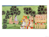 Lakshmana Consulting the Heads of the Monkey Armies, from the Ramayana Giclee Print by  Indian School