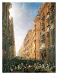 Procession of Corpus Christi in Via Dora Grossa, Turin Giclee Print by Carlo Bossoli