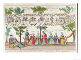 Queen Mathilda and Her Servants Weaving the Bayeux Tapestry, Scene from a Vaudeville Performance Giclee Print