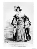 Marie Dorval in the Role of Marion Delorme by Victor Hugo Giclee Print by Achille Deveria