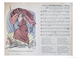 "Score Sheet for the Song ""L'Internationale,"" circa 1900 Giclee Print"