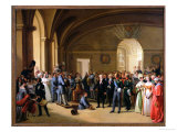 Tsar Alexander I Visiting the Paris Hotel De La Monnaie on 25th May 1814, 1844 Giclee Print by Edouard Pingret
