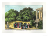 "Plato and His Disciples in the Garden of the Academy, from ""La Vie Des Savants Illustres"" Giclee Print by Alexandre De Bar"