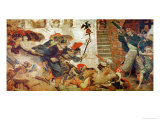 The Expulsion of the Danes from Manchester, 920 AD Giclee Print by Ford Madox Brown