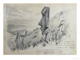 Monuments on Easter Island Giclee Print by Pierre Loti