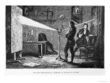 Sir Isaac Newton Breaking up the Light Through a Prism Reproduction procédé giclée