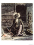 Old Man of Tahiti Seated Near a Tiki, circa 1841-48 Giclee Print by Maximilien Radiguet