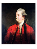 Portrait of Edward Gibbon circa 1779 Reproduction procédé giclée par Joshua Reynolds