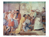 Joseph Recognised by His Brothers Giclee Print by Peter Von Cornelius