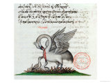 A Pelican Piercing Its Breast to Feed Its Young, from a Bestiary by Manuel Philes, 1566 Giclee Print