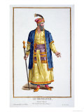 Aurengzeb, Great Khan of the Mongol Hordes from Recuil Des Estampes Premium Giclee Print by Pierre Duflos