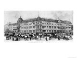 Le Bon Marche Stores, 2nd Half of 19th Century Giclee Print by Michel Charles Fichot