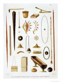 Household Utensils and Weapons from the Mariannas Islands, from &quot;Voyage Autour Du Monde (1817-20)&quot; Giclee Print by Antoine Germain Bevalet