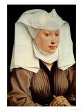 Portrait of a Young Woman in a Pinned Hat, circa 1435 Giclee Print by Rogier van der Weyden