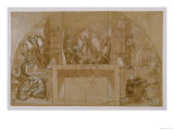 """Compositional Study for """"The Liberation of St. Peter"""" in the Stanza D'Eliodoro in the Vatican Giclee Print by  Raphael"""