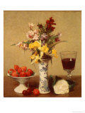 Engagement Bouquet Giclee Print by Henri Fantin-Latour