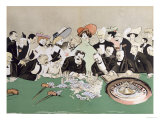 Gamblers in the Casino at Monte-Carlo. circa 1910 Giclee Print by Sem