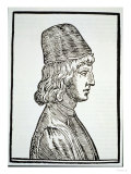 """Portrait of Pico Della Mirandola (1463-94), from """"Delle Celeste Fisionomia"""" Giclee Print"""