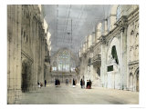 "The Guildhall Interior from ""London as it Is"" Giclee Print by Thomas Shotter Boys"