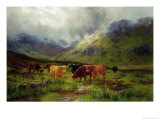 Morning Mists Giclee Print by Louis Bosworth Hurt