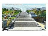 Postcard Depicting the Potemkin Steps, Odessa, circa 1900 Giclee Print