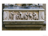 Relief Depicting Artists and Craftsmen at Work Reproduction procédé giclée par Nanni di Banco