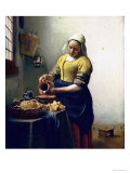 The Milkmaid, circa 1658-60 Premium Giclee Print by Jan Vermeer