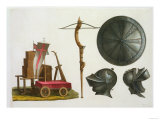 "Milanese Chariot, Crossbow and Armour, Plate 17 from ""Le Costume Ancien Et Moderne"" Giclee Print"