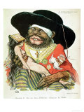 "Caricature of the Negus of Ethiopia, Menelik II (1844-1913), from ""Le Rire"" Giclee Print by Charles Leandre"