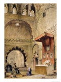 "Cordoba: Monk Praying at a Christian Altar in the Mosque, from ""Sketches of Spain"" Giclee Print by John Frederick Lewis"