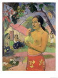 Woman with Mango, 1893 Giclee Print by Paul Gauguin