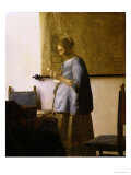 Woman Reading a Letter, circa 1662-63 Giclee Print by Jan Vermeer