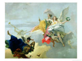 Triumph of Virtue and Nobility Giclee Print by Giovanni Battista Tiepolo