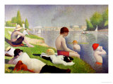 Bathers at Asnieres, 1884 Reproduction proc&#233;d&#233; gicl&#233;e par Georges Seurat