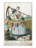 A Peasant Woman, circa 1735 Giclee Print by Martin Engelbrecht
