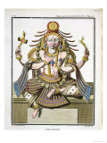 "An Aspect of Shiva, from ""Voyage Aux Indes Et a La Chine"" Premium Giclee Print by Pierre Sonnerat"