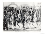 Triumphal Entry of Augustin De Iturbide Giclee Print by Julio Michaud